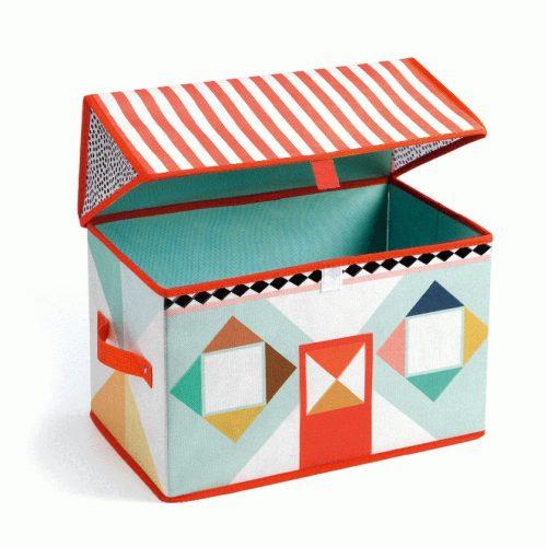 Tárolódoboz - Játékház - House toy box Djeco