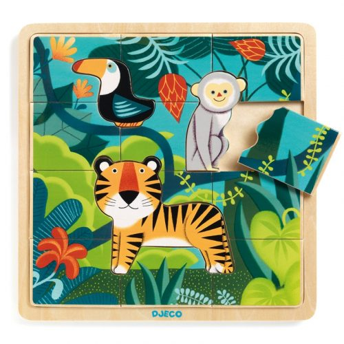 Képkirakó, puzzle - Dzsungel puzzle - Puzzlo Jungle Djeco