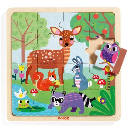 Képkirakó, puzzle - Erdő puzzle - Puzzlo Forest Djeco