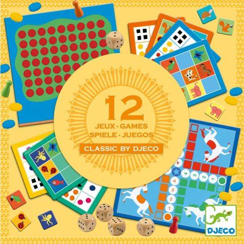Társasjáték klasszikus - Classic box - 12 játék Djeco