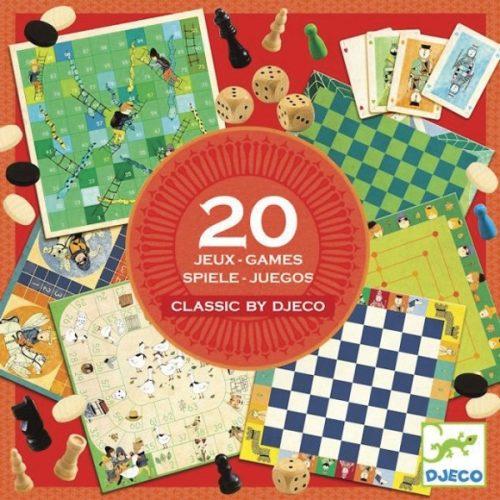 Társasjáték klasszikus - Classic box - 20 játék Djeco