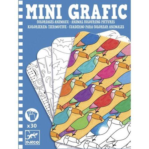 Mini grafika - Állati színező - Animal colouring pictures Djeco