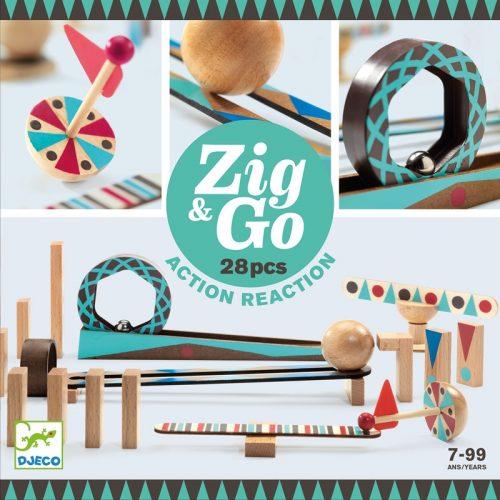 Akció-reakció játék Zig & Go - 28 db-os Djeco