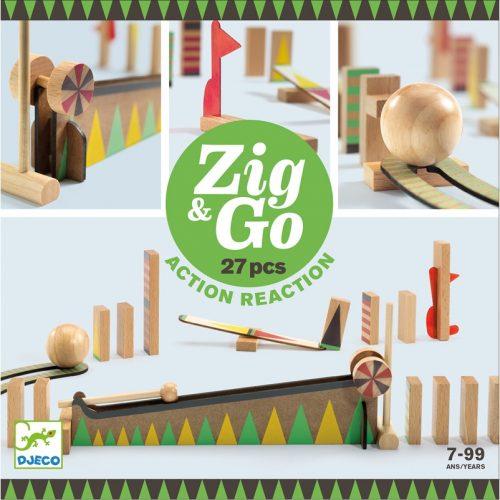Akció-reakció játék Zig & Go - 27 db-os Djeco