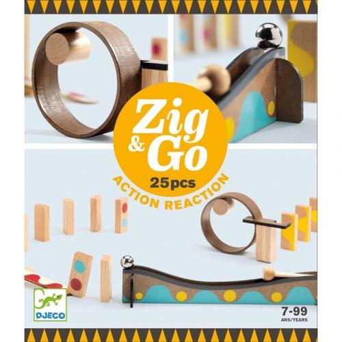 Akció-reakció játék Zig & Go - 25 db-os Djeco