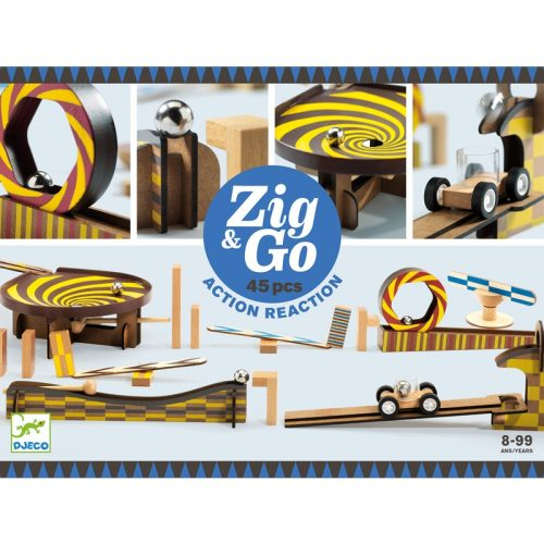 Akció-reakció játék Zig & Go - 45 db-os Djeco