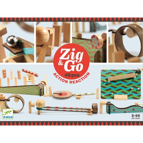 Akció-reakció játék Zig & Go - 48 db-os Djeco