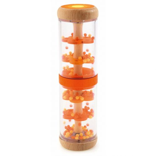 Bébicsörgő - Narancs esőbot - Orange rain shaker Djeco