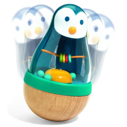 Bébicsörgő - Kelj fel pingvin - Roly Pingui Djeco