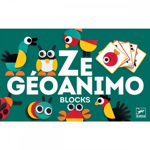 Képkirakó - Geometrikus állatképek - Ze Geoanimo Djeco