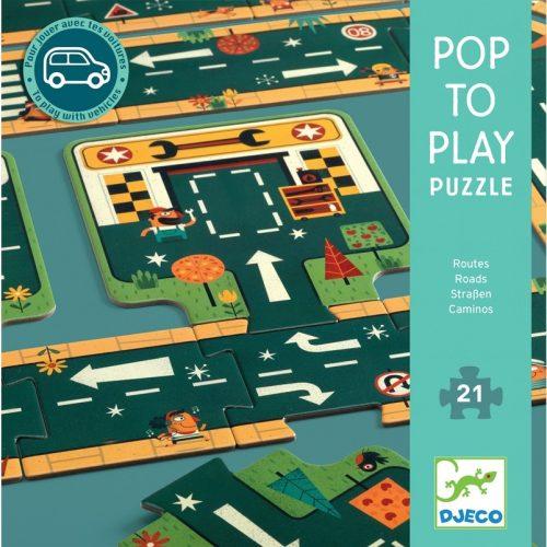 Óriás puzzle - Utak, irányok - Roads Djeco