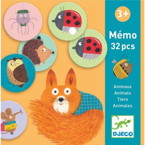 Memóriajáték - Állatok - Memo Animals Djeco