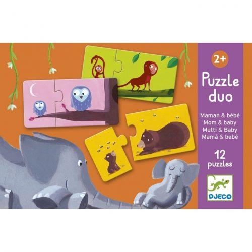 Párosító puzzle - Anya és kicsinye Djeco