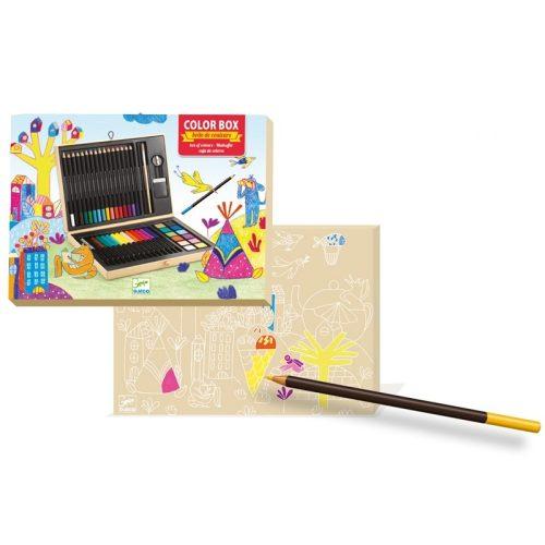 Kreatív készlet - Festő és rajz készlet - Color box Djeco