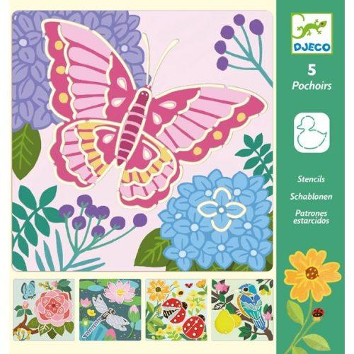 Rajzsablonok - Kerti szárnyak - Garden wings Djeco