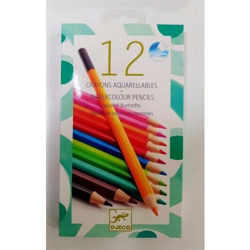 Akvarellceruza - Kettő az egyben - Watercolour crayons Djeco
