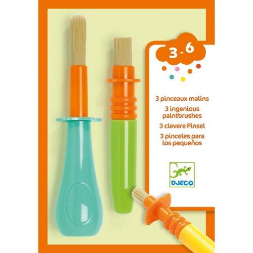 3 féle ügyes ecset gyerekeknek - 3 ingenious paintbrushes Djeco