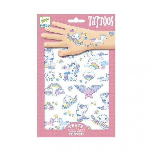Tetováló matricák - Unikornisok - Unicorns Djeco