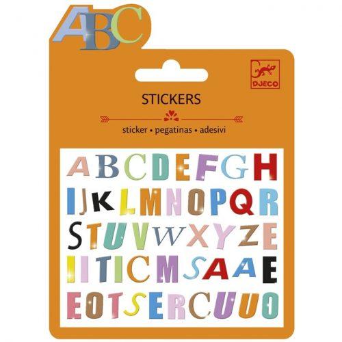 Mini matrica - Színes betűk - Coloured letter Djeco