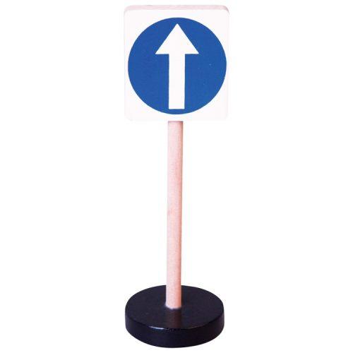 Közlekedési tábla - Kötelező előre