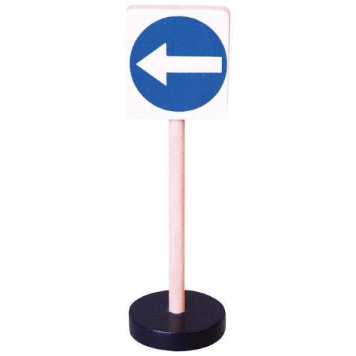Közlekedési tábla - Kötelező balra tartás