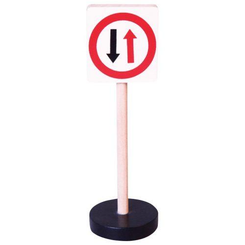 Közlekedési tábla - Szembejövő elsőbbség