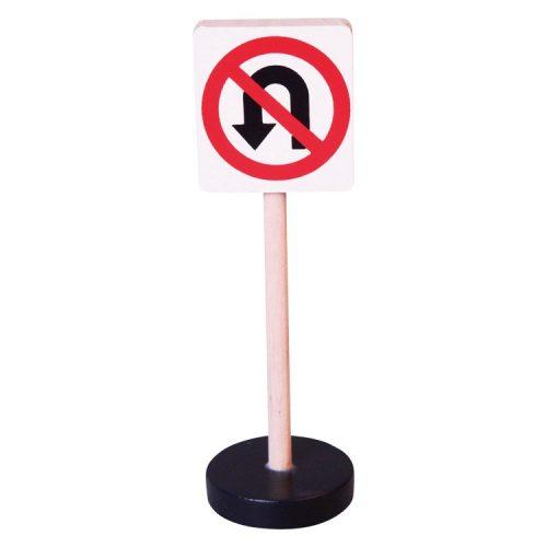 Közlekedési tábla - Megfordulni tilos