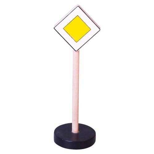 Közlekedési tábla - Főútvonal