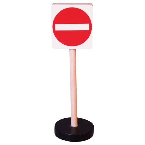 Közlekedési tábla - Behajtani tilos