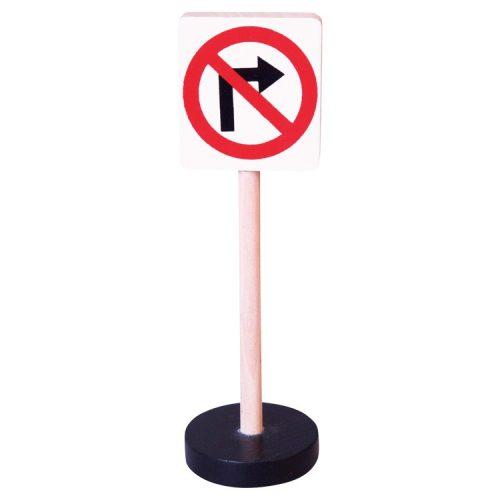 Közlekedési tábla- Jobbra kanyarodni tilos