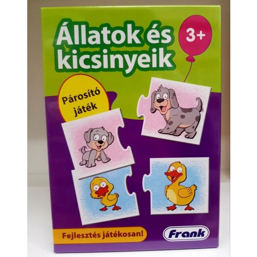 Párosító játék - Állatok és kicsinyeik Frank