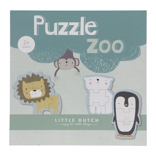 Puzzle játék - Állatkert Little Dutch