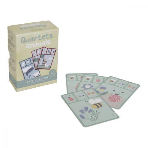 Kvartett kártyajáték - állatos Little Dutch