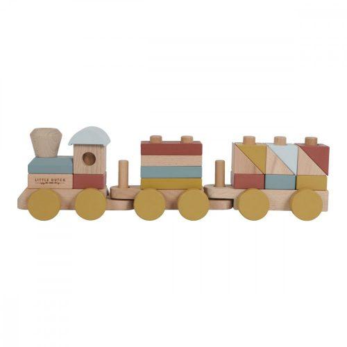 Vonat építőelemekkel Pure&Nature Little Dutch