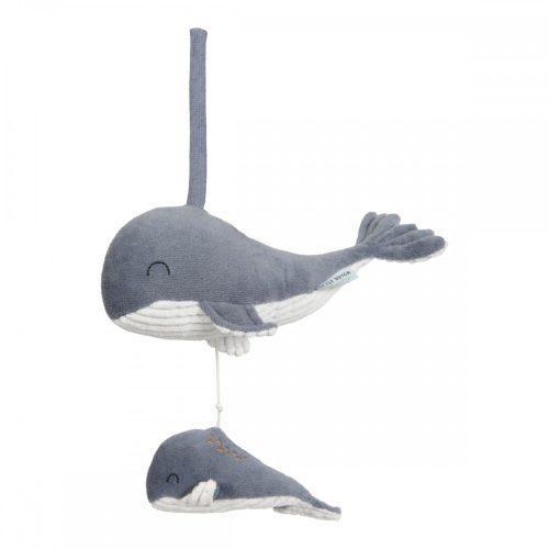 Plüss bálna felhúzható kék Little Dutch