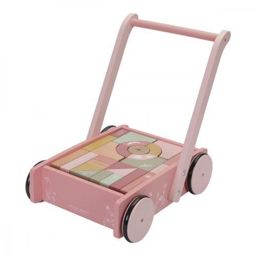 Járássegítő építőelemekkel rózsaszín Little Dutch