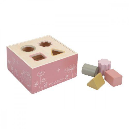 Formabedobó kocka rózsaszín Little Dutch