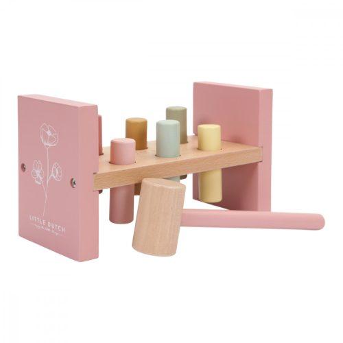 Kalapálós játék rózsaszín Little Dutch
