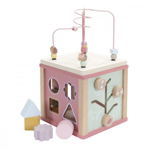 Készségfejlesztő kocka rózsaszín Little Dutch