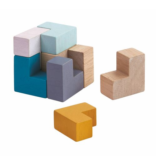 3D kocka puzzle PlanToys