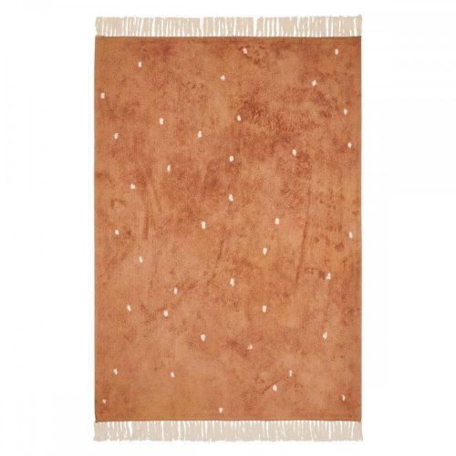 Gyerekszőnyeg rozsdaszínű pöttyös 120x170 cm Little Dutch