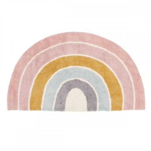 Gyerekszőnyeg szivárvány forma rózsaszín 130x80 cm Little Dutch