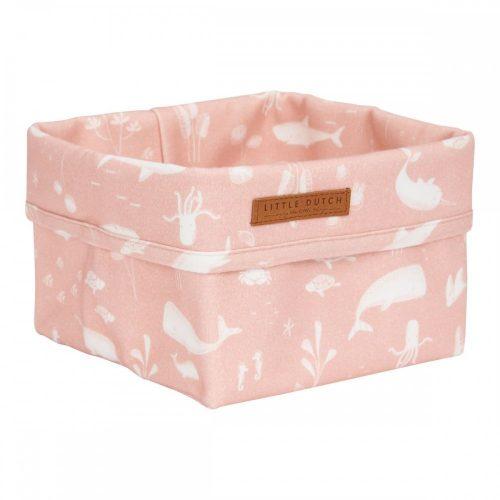 Tároló doboz óceán pink 15x15 cm Little Dutch