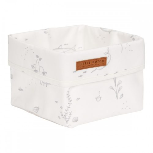 Tároló doboz óceán fehér 15x15 cm Little Dutch