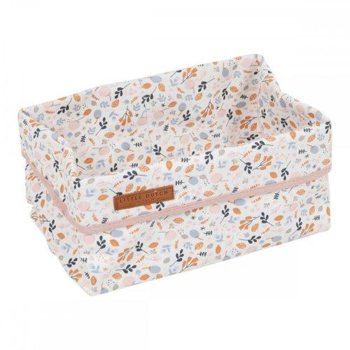 Tároló doboz tavaszi virágos 25x15 cm Little Dutch