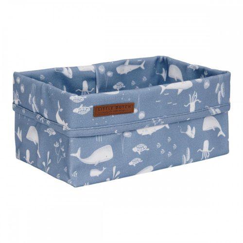 Tároló doboz óceán kék 25x15 cm Little Dutch