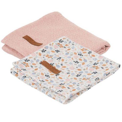 Textilpelenka tavaszi virágos 70x70 cm 2 db/csomag Little Dutch